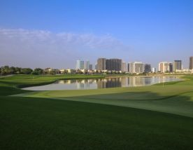 The The Els Club's beautiful golf course in magnificent Dubai.