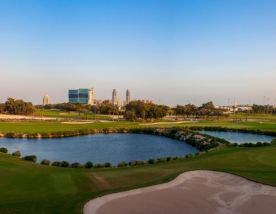 The Doha Golf Club's impressive golf course situated in stunning Qatar.