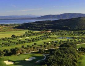 The Argentario Golf Club's impressive golf course situated in gorgeous Tuscany.