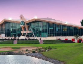 All The Abu Dhabi Golf Club's impressive golf course in faultless Abu Dhabi.