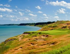 View Whistling Straits Golf Course's impressive golf course situated in dazzling Wisconsin.