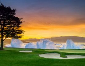 All The Pebble Beach Golf Links's impressive golf course in astounding California.