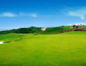 The Alcaidesa Heathland Course's picturesque golf course in pleasing Costa Del Sol.