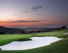 beautiful sunset on finca cortesin golf course
