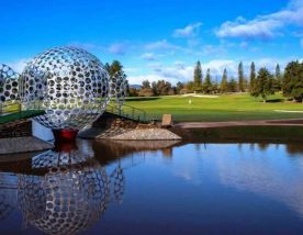 the golf ball sculpture