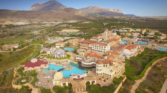 The Melia Villaitana Hotel's lovely ariel view in sensational Costa Blanca.