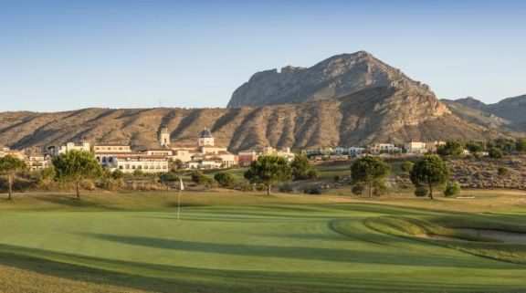 The Villaitana Levante Golf Course's beautiful golf course in striking Costa Blanca.