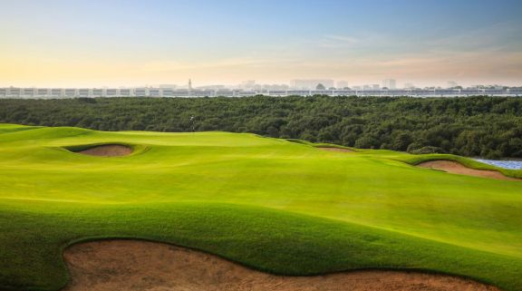 The Al Zorah Golf Club's lovely golf course in marvelous Dubai.