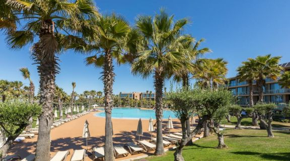 The Hotel Salgados Dunas Suites's impressive main pool situated in astounding Algarve