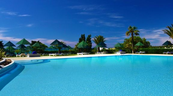 The Pestana Viking Beach Spa Resort's impressive main pool in incredible Algarve.