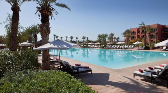The Kenzi Menara Palace's beautiful outdoor pool in magnificent Morocco.