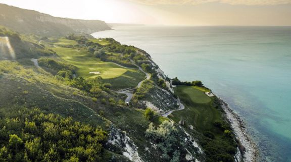 The Thracian Cliffs Golf Club's picturesque golf course situated in stunning Black Sea Coast.