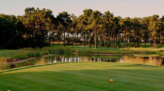 The Aroeira 2 Golf Course's impressive 6th tee in brilliant Lisbon.