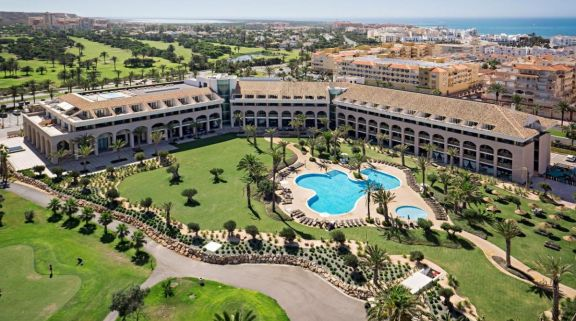 The Hotel Golf Almerimar's scenic hotel within magnificent Costa Almeria.