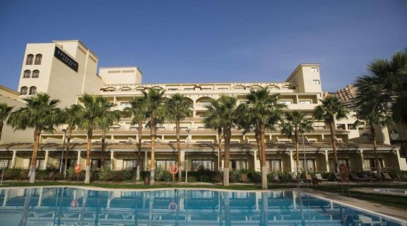 The Vincci Seleccion Envia Almeria's picturesque main pool situated in impressive Costa Almeria.