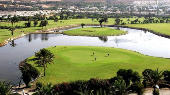 The Almerimar Golf Club's beautiful golf course in striking Costa Almeria.