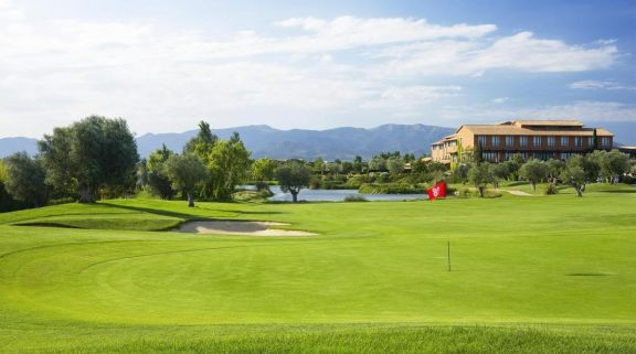 The Hotel Peralada Wine Spa  Golf Resort's lovely golf course in staggering Costa Brava.