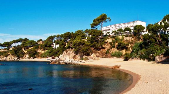 The Silken Park San Jorge Hotel's picturesque beach situated in stunning Costa Brava.