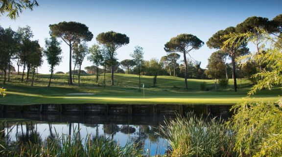 The PGA Catalunya Tour Course's lovely green on the 3rd situated in staggering Costa Brava.