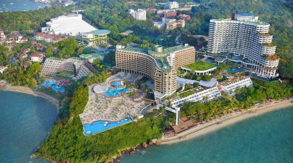 The Royal Cliff Beach Hotel's beautiful ariel view in brilliant Pattaya.