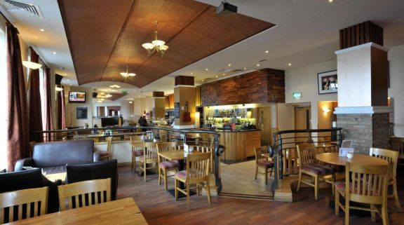 View Portrush Atlantic Hotel's scenic bar area within amazing Northern Ireland.