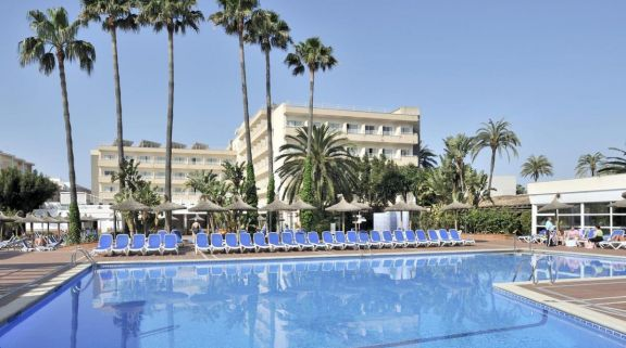The Pionero Hotel's lovely main pool situated in dazzling Mallorca.