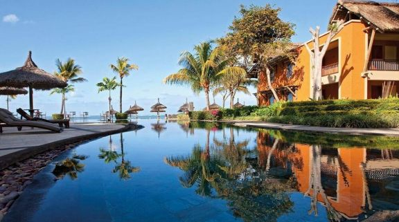 The Heritage Awali Golf  Spa Resort's lovely main pool within staggering Mauritius.