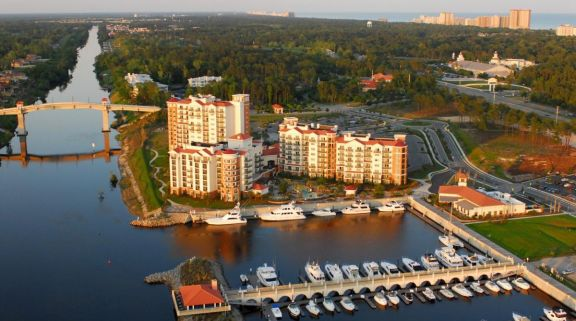 The Marina Inn at Grande Dunes's lovely ariel view in magnificent South Carolina.