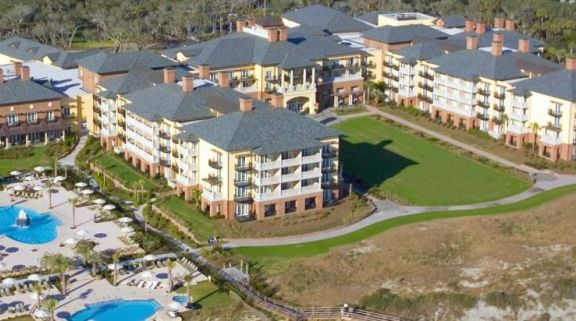 The Kiawah Island Golf Resort's impressive ariel view situated in gorgeous South Carolina.