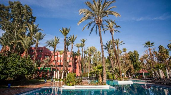 View Hotel Kenzi Farah's scenic main pool situated in gorgeous Morocco.