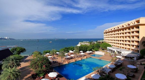 The Dusit Thani Hotel's scenic sea view within sensational Pattaya.