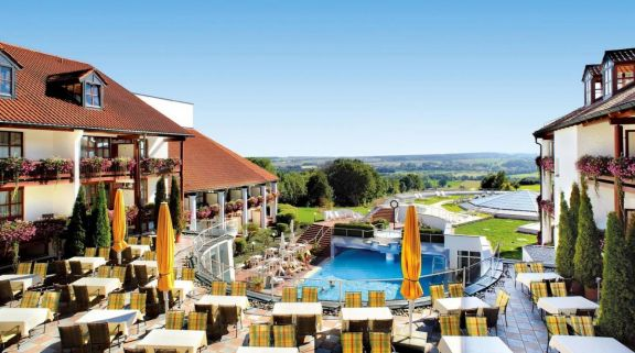 View Furstenhof Hotel's amazing main pool situated in pleasing Germany.