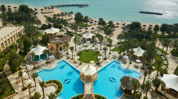 The InterContinental Doha's impressive main pool in astounding Qatar.