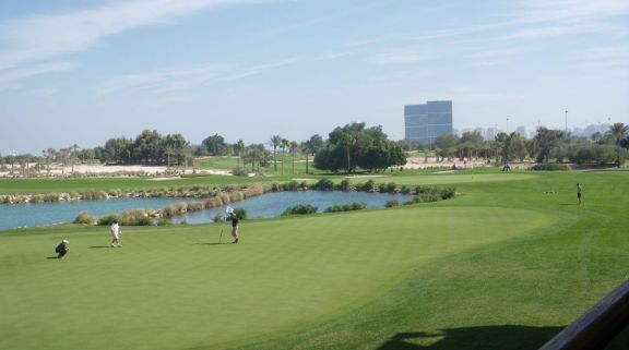 The Doha Golf Club's impressive golf course situated in breathtaking Qatar.