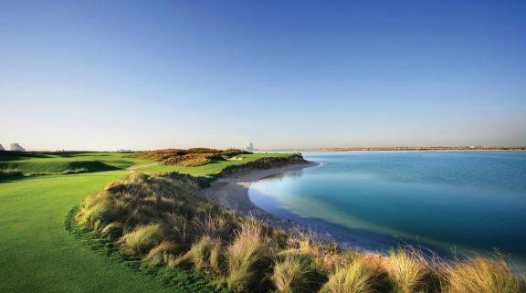 View Yas Links's beautiful golf course within gorgeous Abu Dhabi.