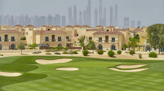 The Els Club's beautiful golf course within spectacular Dubai.
