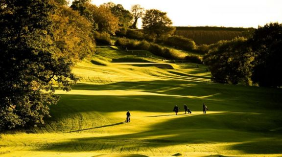 The Breadsall Priory Country Club's scenic golf course situated in dramatic Derbyshire.