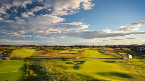 The Carnoustie Golf Links's impressive golf course in astounding Scotland.