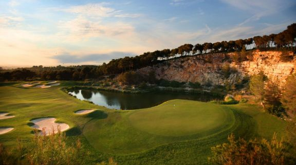 View Costa Dorada Golf Club's impressive green situated in dazzling Costa Dorada.