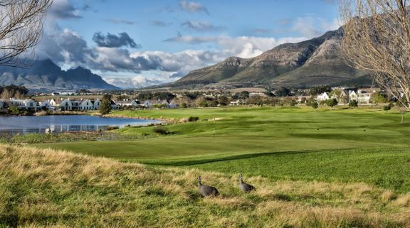 The De Zalze Golf Club's impressive golf course situated in amazing South Africa.