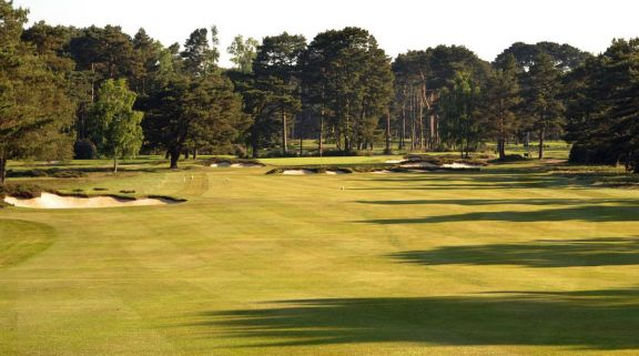 The Ferndown Golf Club's beautiful golf course in striking Devon.