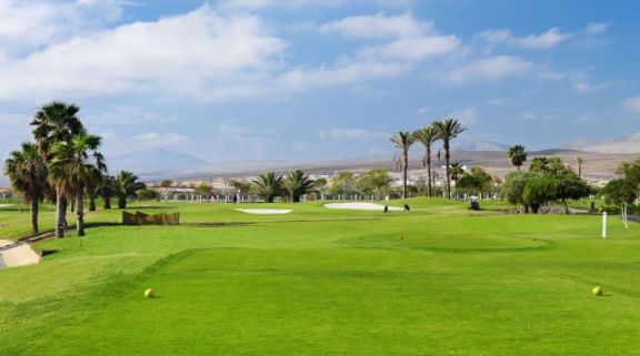 The Fuerteventura Golf Club's impressive golf course within impressive Fuerteventura.