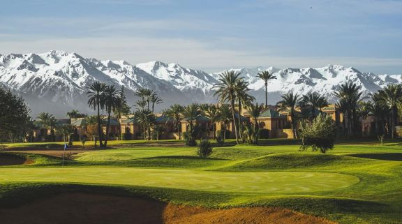 The Golf Amelkis's impressive golf course in faultless Morocco.