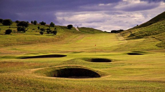 The Gullane Golf Club's lovely golf course situated in brilliant Scotland.