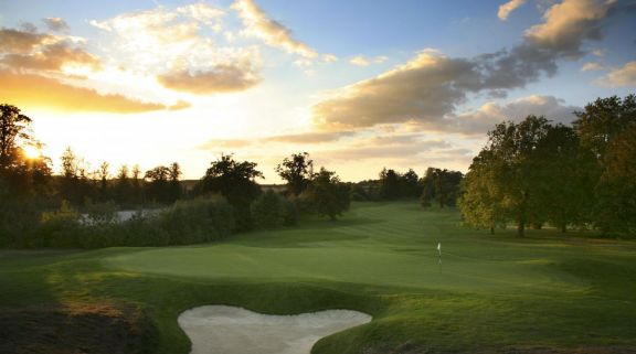 The Hanbury Manor Country Club's impressive golf course situated in stunning Hertfordshire.