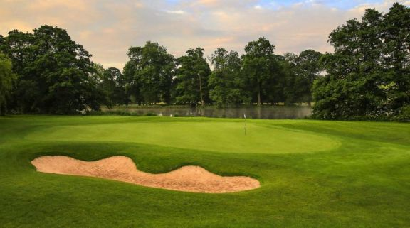 The Kedleston Park Golf Club's impressive golf course situated in astounding Derbyshire.