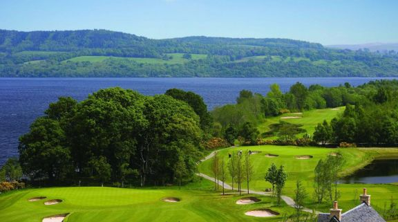The Loch Lomond Golf Club's beautiful golf course situated in incredible Scotland.
