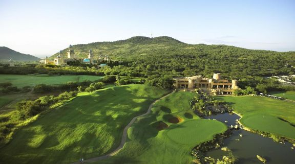 The Lost City Golf Course's lovely golf course situated in staggering South Africa.