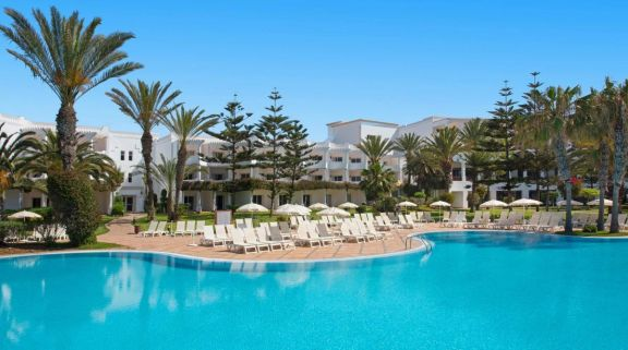 The Iberostar Founty Beach hotel's impressive main pool situated in staggering Morocco.