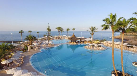 View Iberostar Selection Anthelia's picturesque main pool in dramatic Tenerife.